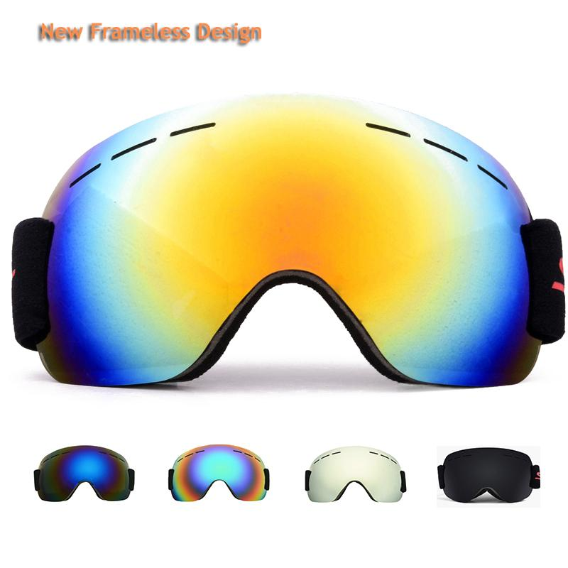 852f265e6c3b 2019 Frameless Ski Goggles Men Women HD Snowboard Glasses For Skiing UV400  Protection Snow Skiing Glasses Anti Fog Ski Mask From Sportsun