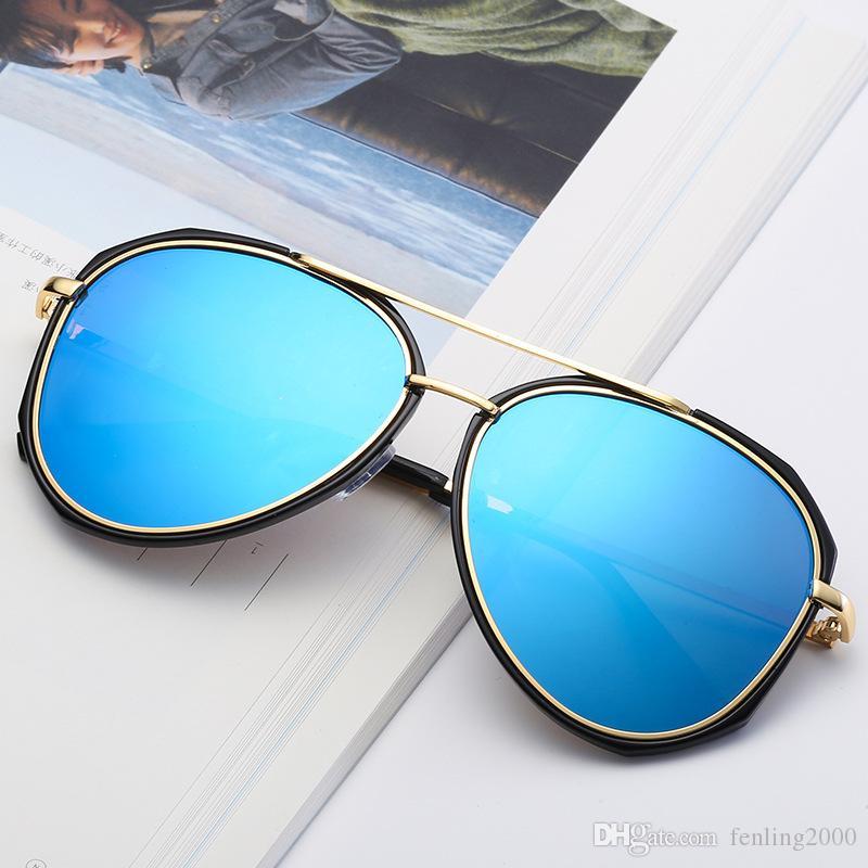 397a5b8df39 2019 New 6 Style Colorful Reflective Sunglasses Retro Fashion Big ...