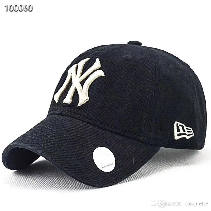92da58ef22 Wholesale High Quality NY Yankees Fade Baseball Caps Hat Curved Visor  Casquette Hats 100% Cotton Gorras Golf Bone Snapback Hat Cap Shop Flexfit  Caps From ...