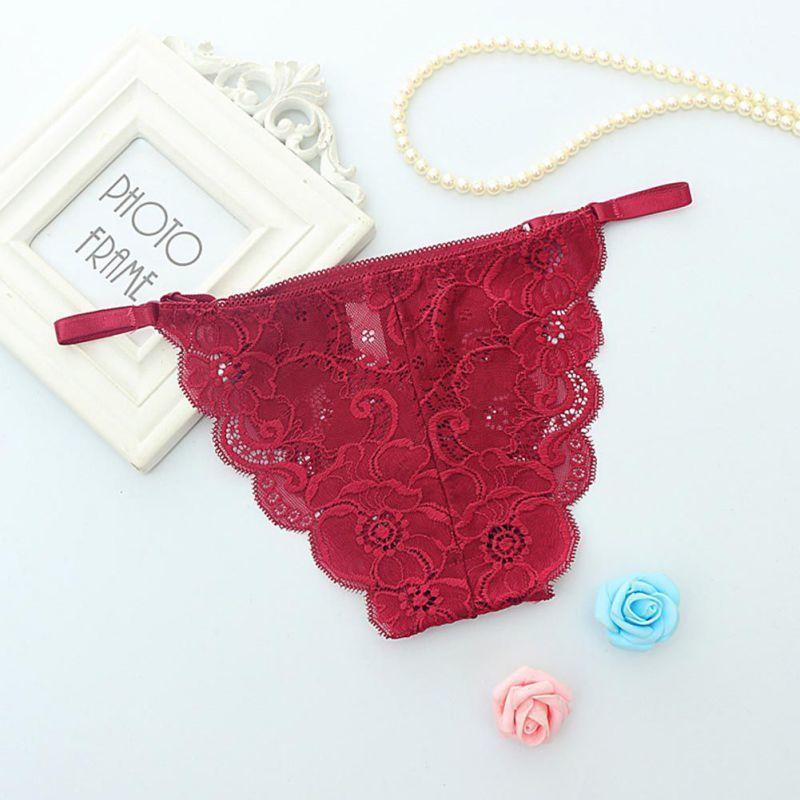 0922c9cb6 Ropalia Women s Lace Panties For Women Female Briefs Thongs G-string  Lingerie Sexy Underwear T7 C19040401