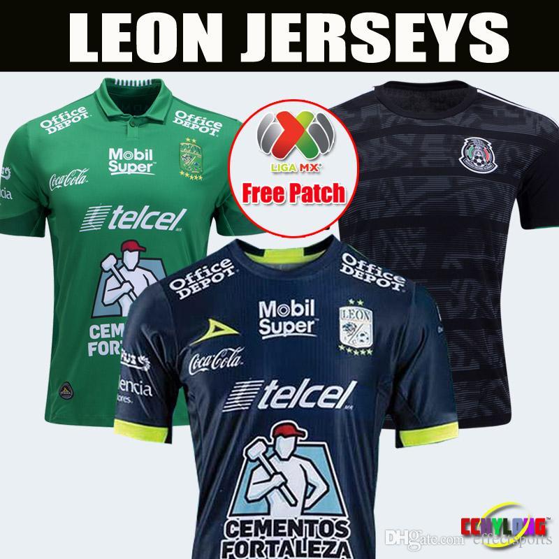 aafdffe5bf10b 2018 19 México Club LEON FC Soccer Jersey 2019 En Casa Tercera 18 19 LEON Pachuca  Camisetas De Fútbol UNAM Selección Nacional De México Parches Gratuitos ...