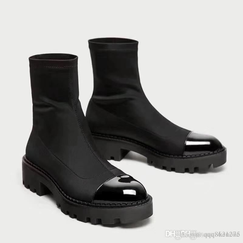 6d8ce1c5c Compre Moda Mujer Plataforma Tacón Botas Tela Elástica Calcetines Pirata  Australia Botas Medias Botas Zapatos De Vestir 2018 Venta Caliente  Chaussures Pour ...
