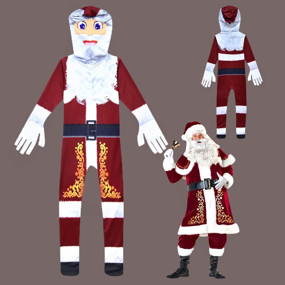 Children's Christmas Halloween Pullover Hoodies Rompers Jumpsuit costume Siamese clothes Santa Claus cosplay performance costume