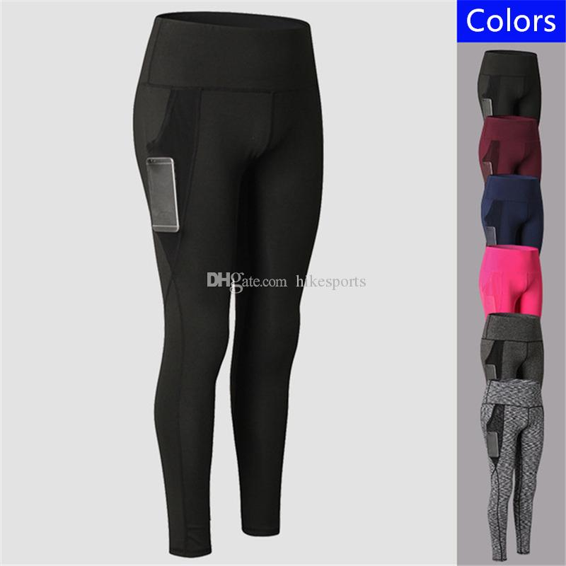 61340fd0f4d88 2019 Womens Yoga Pants Gym Fitness Sport Running Training Tight Pants  Leggings Mesh Side Pockets Sweatpants High Waisted Elastic Sports Trousers  From ...