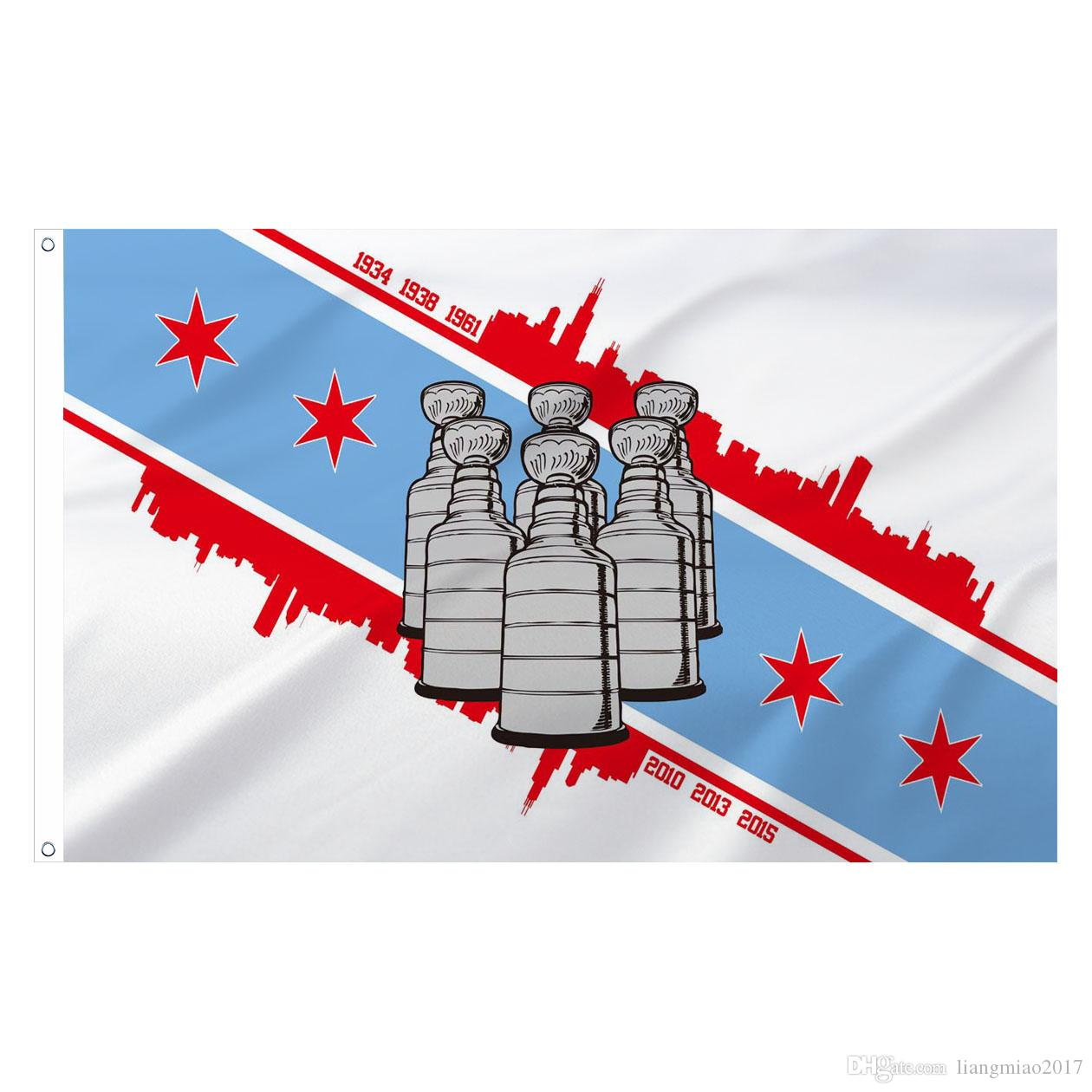 3ft X 5ft Chicago Six Cups Flag Decorative Flags Banner W 2