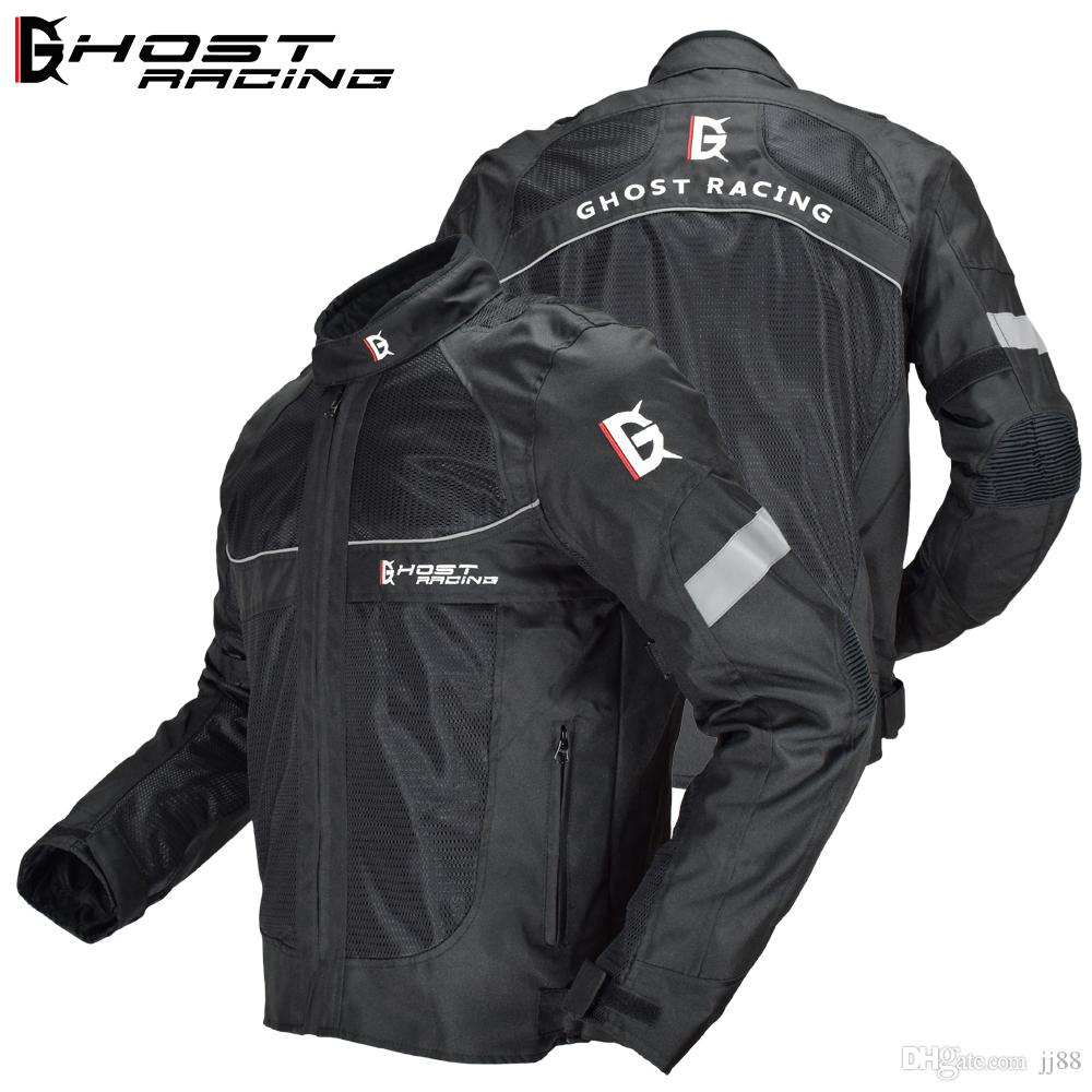 1444610f GHOST RACING Мотоциклетная куртка Летняя мужская мото мотокроссная куртка  Moto Protective Gear Breathable Mesh Светоотражающая куртка