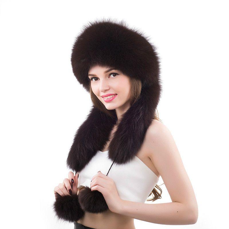 b9550f13fcc78a 2019 Woman Winter Real Fox Fur Long Ear Cap Female Earflap Warm Hat  Princess Russian Hats From Zaonoodle, $157.33 | DHgate.Com