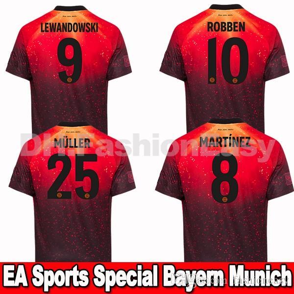 Compre Top EA Sports Limited Edition Camisa De Futebol Do Adidas   EA Sports  Bayern De Munique JAMES RODRIGUEZ 18 19 LEWANDOWSKI MULLER KIMMICH Homens  De ... cd01142958624