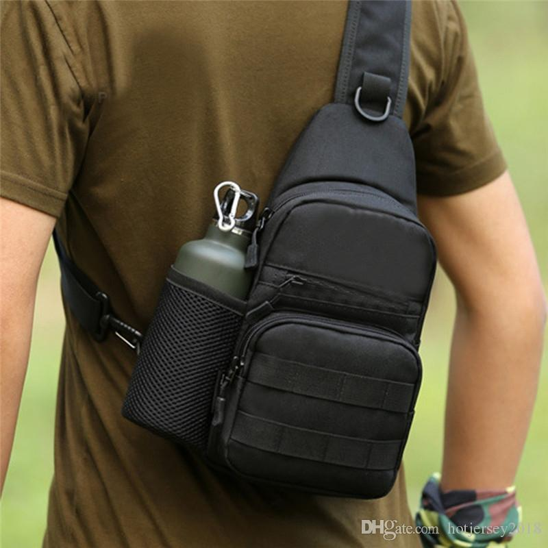 Unisex Chest Bag Nylon Military Traveling Cycling Cross Body Shoulder Backpack Camping Chest Bag Anti Scratch Waterproof Bag Climbing Bags Sports & Entertainment
