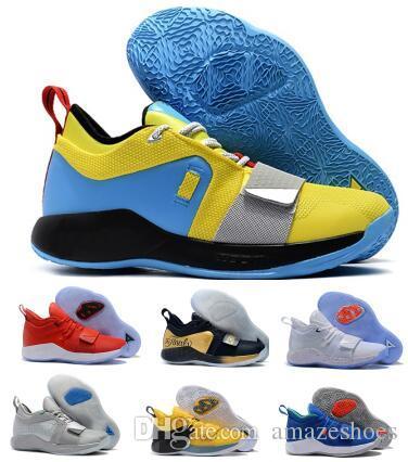 ce2259eeb40 2019 Nuevo Pg 2.5 Zapatos De Baloncesto Paul George Men Gold Playstation  Space Jam Moon PG 2 Entrenadores Zapatillas Deportivas Por Amazeshoes
