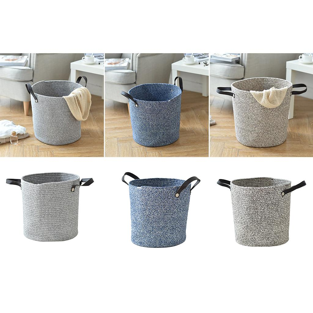 2019 Cotton Woven Storage Baskets Round Cotton Rope Collapsible Woven Bin  Baby Laundry Basket With Handle From Raymonu, $34.27 | DHgate.Com