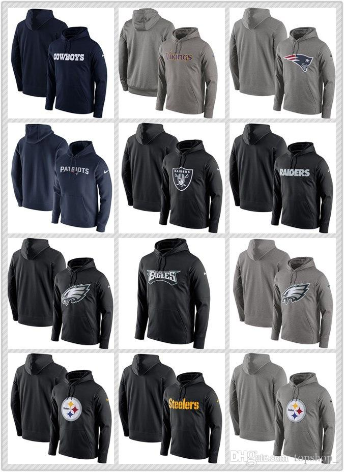 Sudadera con capucha Nueva sudadera con capucha 2020 Hombres calientes sudadera con capucha Osos Vikingos Patriotas Raiders Águilas Steelers Navy Performance Circuit Wordmark Sudadera con capucha
