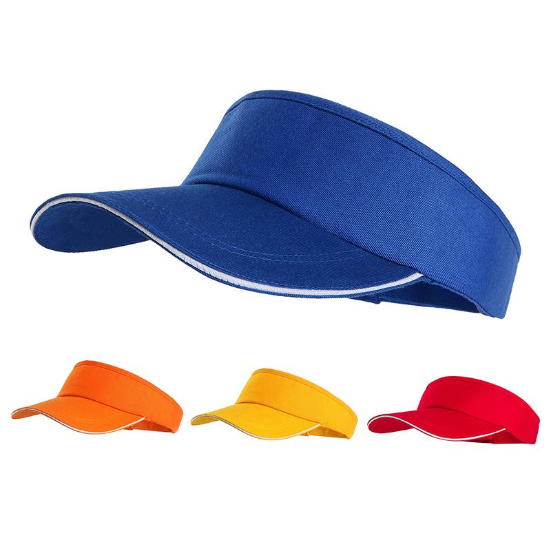 2fce04fc529f5 SuperB G Women s Sun Hat Empty Top Visor Women Summer Sports Cap Adjustable  Solid Color Tennis Golf Hat Female High Quality
