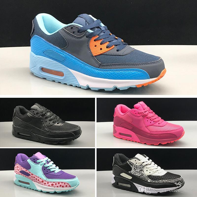 Nike air max 90 2019 Zapatillas de deporte para niños Presto 90 Niños Deportes Ortopédicos Jóvenes entrenadores para niños Niñas niños Niños zapatos