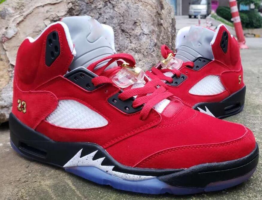 reputable site e2d17 64c4b Mens J5 Basketball shoes retro jumpman 5S Bel Air flight AJ 5 oreo Man kids  boots Sport Sneakers US7-13 02