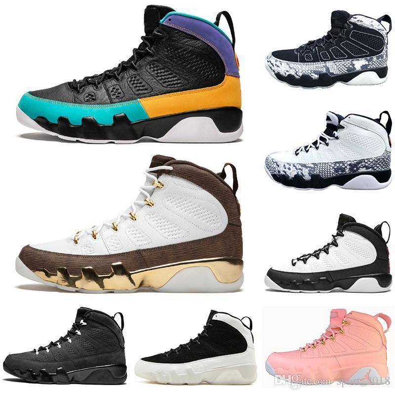 Newest 9 9s Men Women Basketball Shoes Dream It Do It Bred Black White Snake Unc Space Jam Cheap Mens Trainers Sports Sneakers