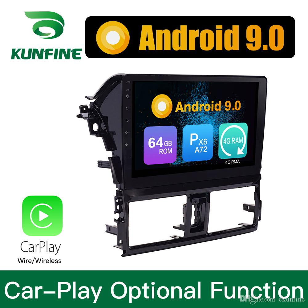 Android 9.0 Ram 4G Rom 64G PX6 Cortex A72 Car DVD GPS Multimedia Player Car Stereo Navigetion For Toyota YARiS L 2013-2016 Radio