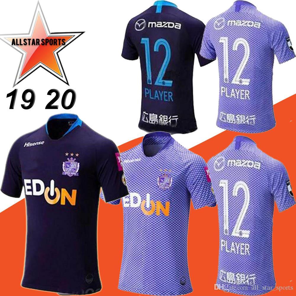 49b86285fd2 2019 19 20 J1 League Sanfrecce Hiroshima Soccer Jerseys 2019 Home  12  PLAYEY Soccer Shirt Away Black Football Uniform Sale From All star sports