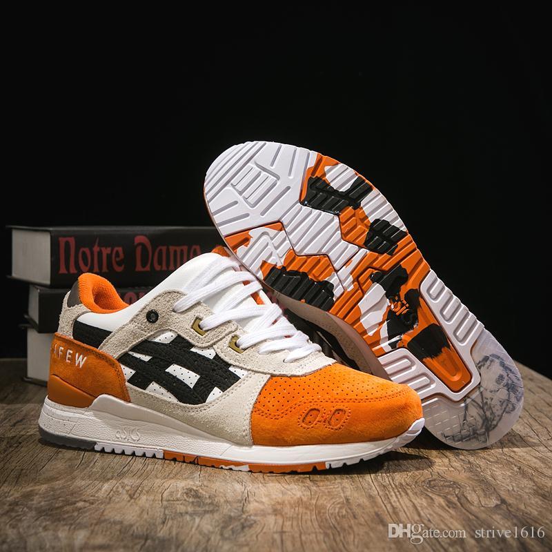tout neuf 691f2 e8c7d Nouveau Asics x Afew x Poutres Gel Lyte III Baskets de jogging Hommes  Femmes Chaussures de course Top Qualité