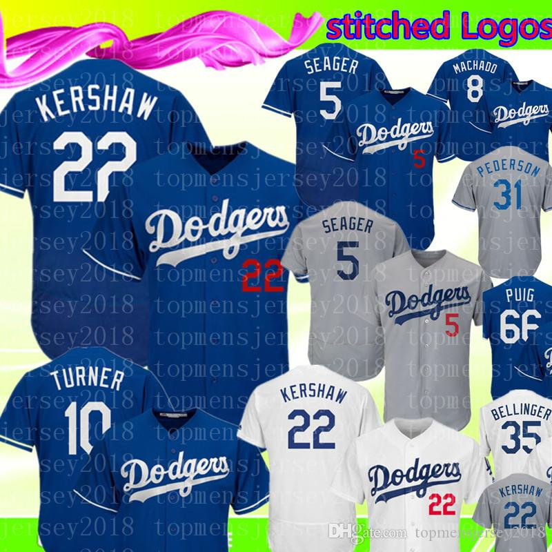 5ffea33750c ... official 2019 22 clayton kershaw 5 corey seager los angeles dodgers  jersey mens 35 cody bellinger