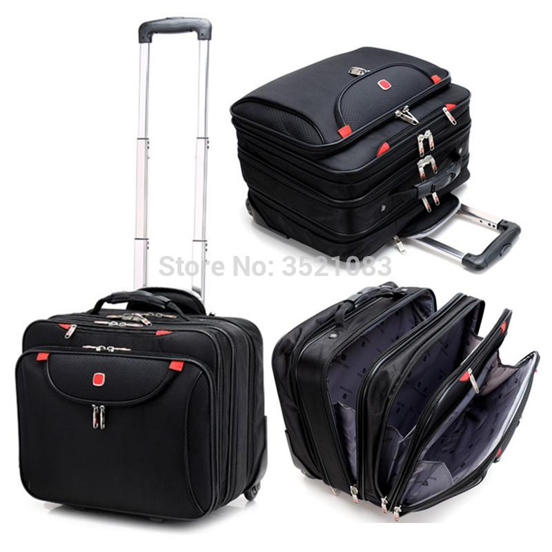 cabin size rolling luggage travel suitcase multifunction. Black Bedroom Furniture Sets. Home Design Ideas