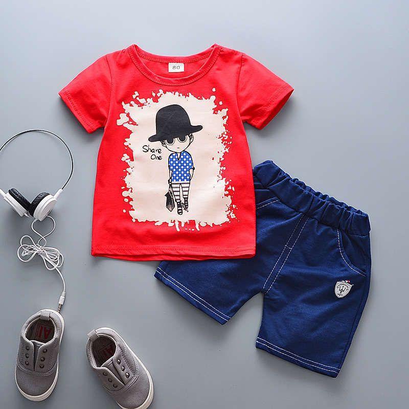 ba8ee1a2e 2019 Good Quality 2019 Baby Boy Clothing Set Summer Boy Kid Clothes ...