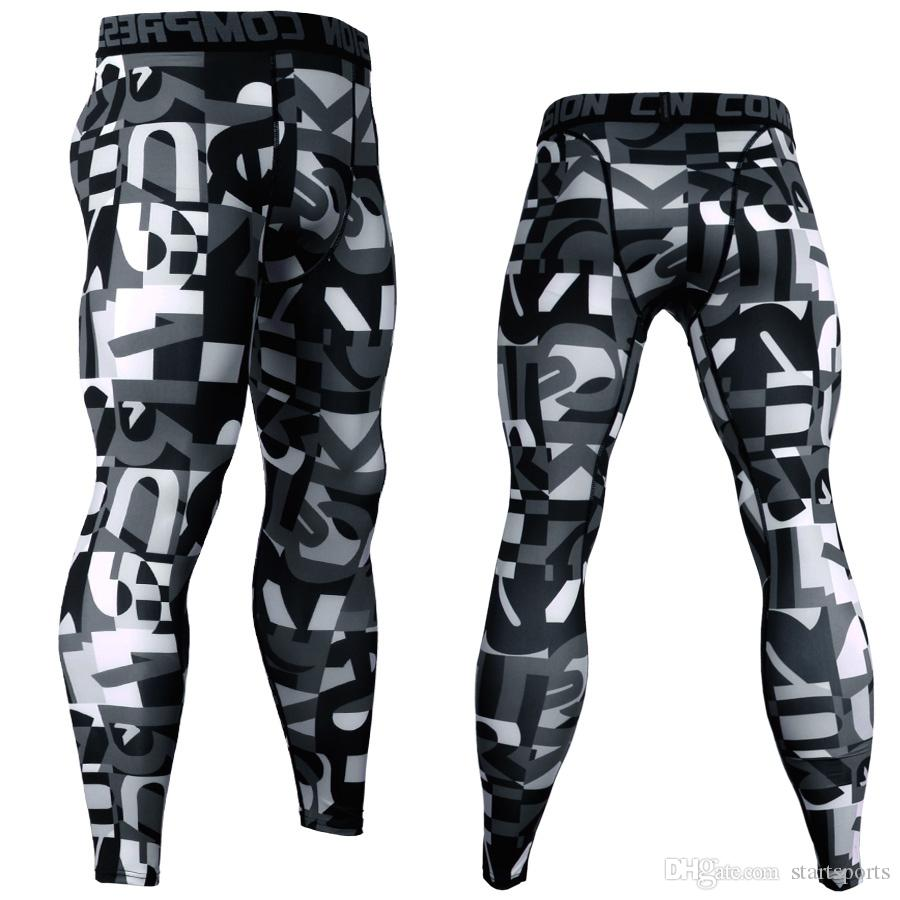 f81aa2578e02e 2019 3D Printed Camouflage Joggers Leggings Men Quick Dry Compression Pants  Gyms Fitness Tights Casual Crossfit Trousers Long Pants #387447 From  Startsports ...