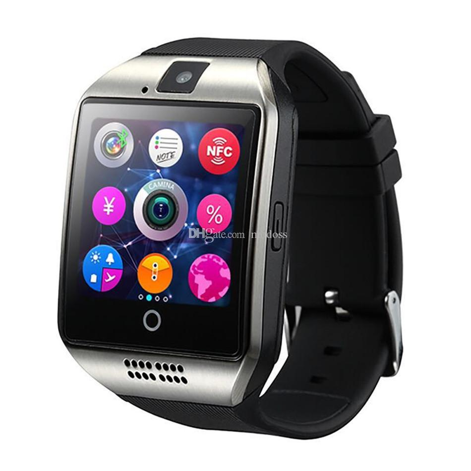 Q18 Bluetooth Smart Watch Touchscreen mit Kamera entriegelt Watch-Handy mit Sim-Kartensteckplatz