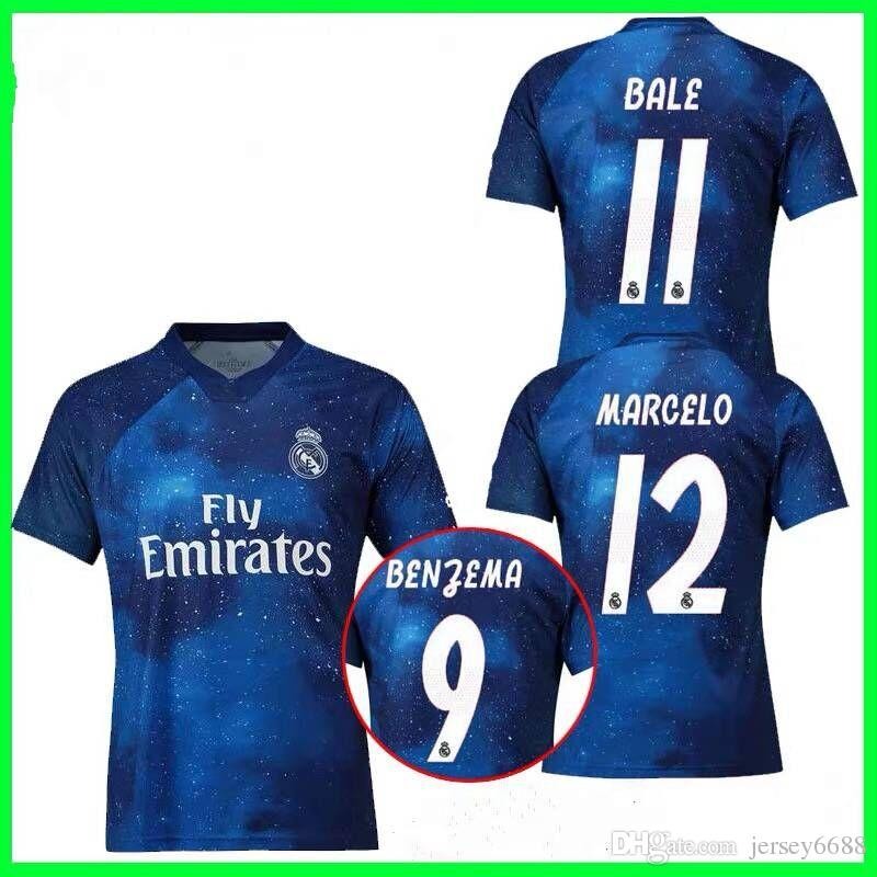 official photos 1c520 189b3 EA Sports Real madrid Manchester United Soccer Jersey 2018 2019 training  wear special edition shirt