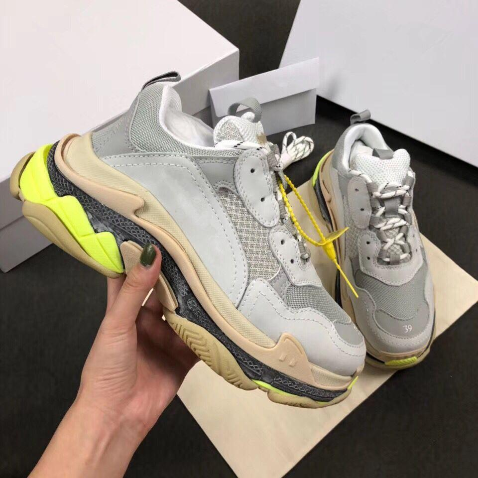dce723df9e New 2018 Men Women Grey Leather With Mesh Patchwork Platform Sneakers,Brand  Designer Lovers Daddy Causal Sports Shoes 35 45drop Shipping Y6 Buy Shoes  Online ...
