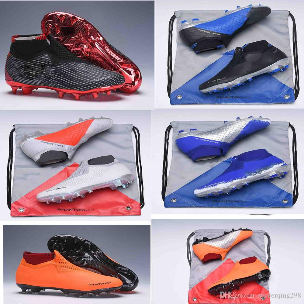 NEW original color Phantom Vision Shadow Elite DF FG VSN Game Over Mens High Ankle Soccer Cleats Football Shoes Size US6.5-11