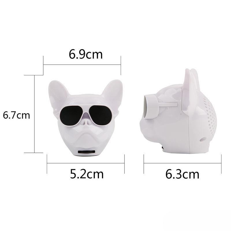 Dog Head speakers Factory Price Mini bluetooth speakers phone computer  wireless low sound gun card stereo Multipurpose portable USB TF HIFI