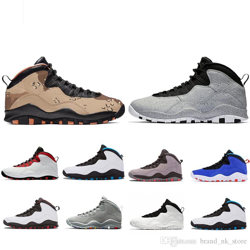 185976d441e48e 2019 New Original Desert Camo Tinker 10 10s Mens Basketball Shoes 2019 Westbrook  Cement Designer Shoe Men Cool Grey Fusion Red Sports Sneakers From ...
