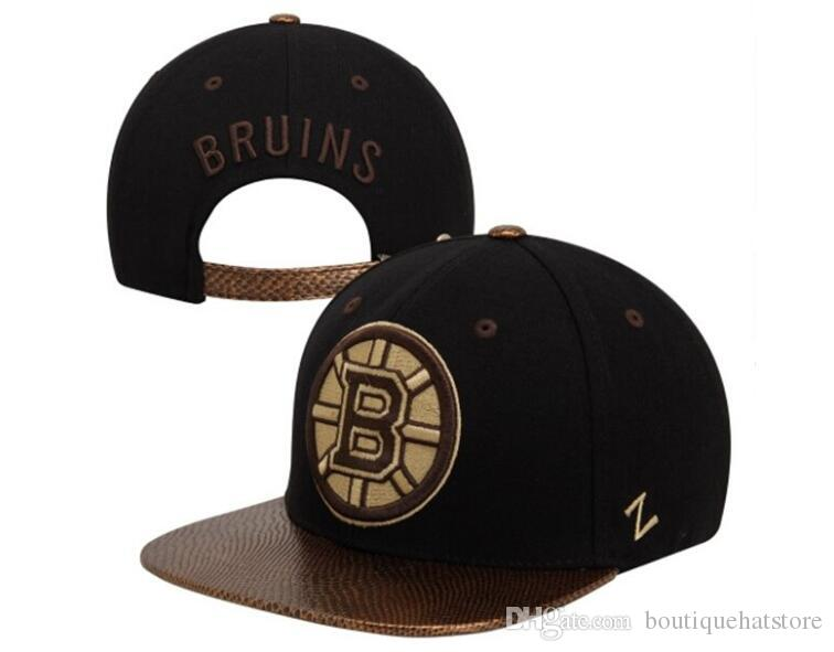 promo code 230ee 6c2b1 Men S Boston Bruins Zephyr Style Snapback Hat Logo Embroidery Sport NHL  Adjustable Hockey Strapback Caps Flat Leather Baseball Hats Baby Caps 47  Brand Hats ...