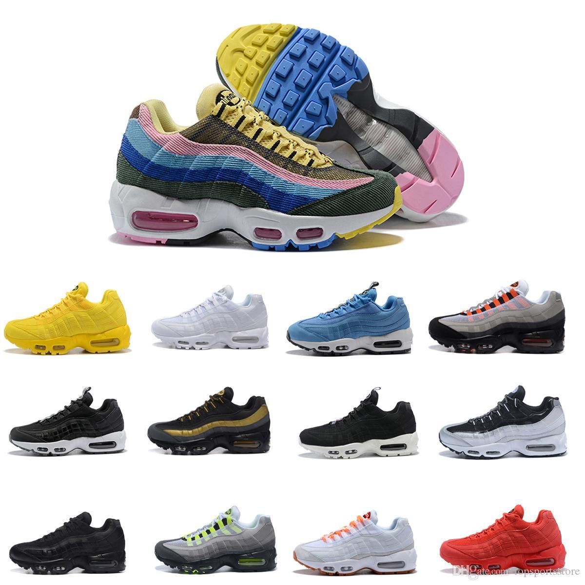new concept f453f 1961c Acquista 95 2018 New 95 20th Anniversary Neon Mens Scarpe Da Corsa Sports  Designer 95s Uomo Scarpe Da Ginnastica Zapatos Sneakers Chaussures Taglia  12 A ...