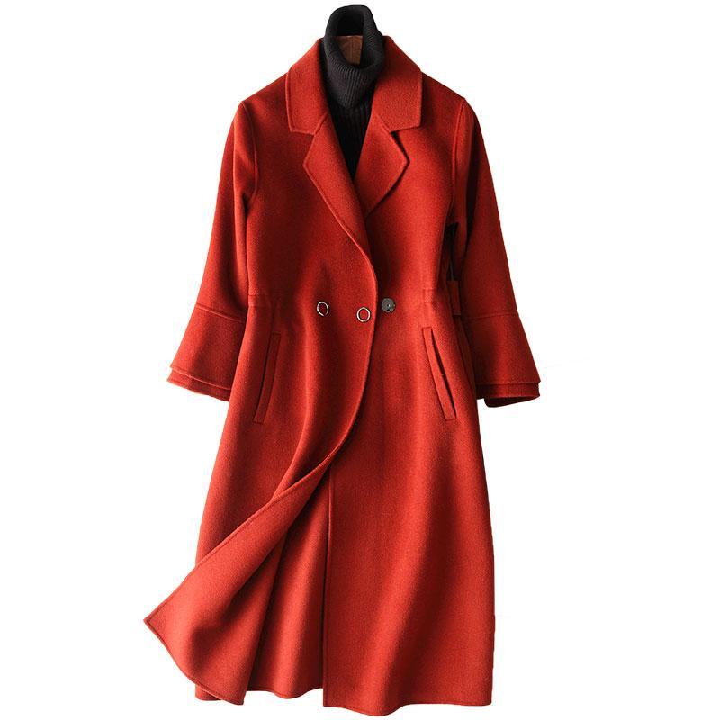 Tops Fourrure Hiver Manteaux Manteau Veste De Cachemire Femmes Vintage Femme Double Coréenne Laine Des Face Automne roeQBxdCW