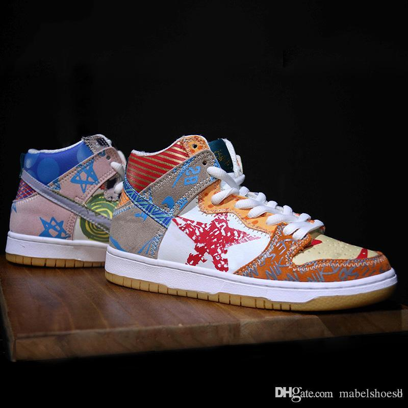 wholesale dealer 699aa 98ac1 2018 New SB Zoom Dunk High Prem Thomas Campbell High Designer Fashion  Casual Shoes Skateboarding Sneakers Dancing Trainers Sport Trails