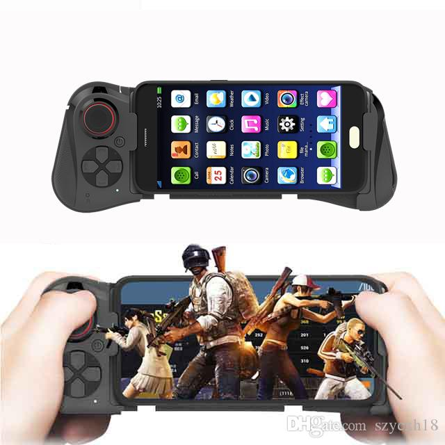 058 Wireless Bluetooth Gamepad Game Controller For iPhone 7 Android Phone TV Tablet Gaming Gamepads