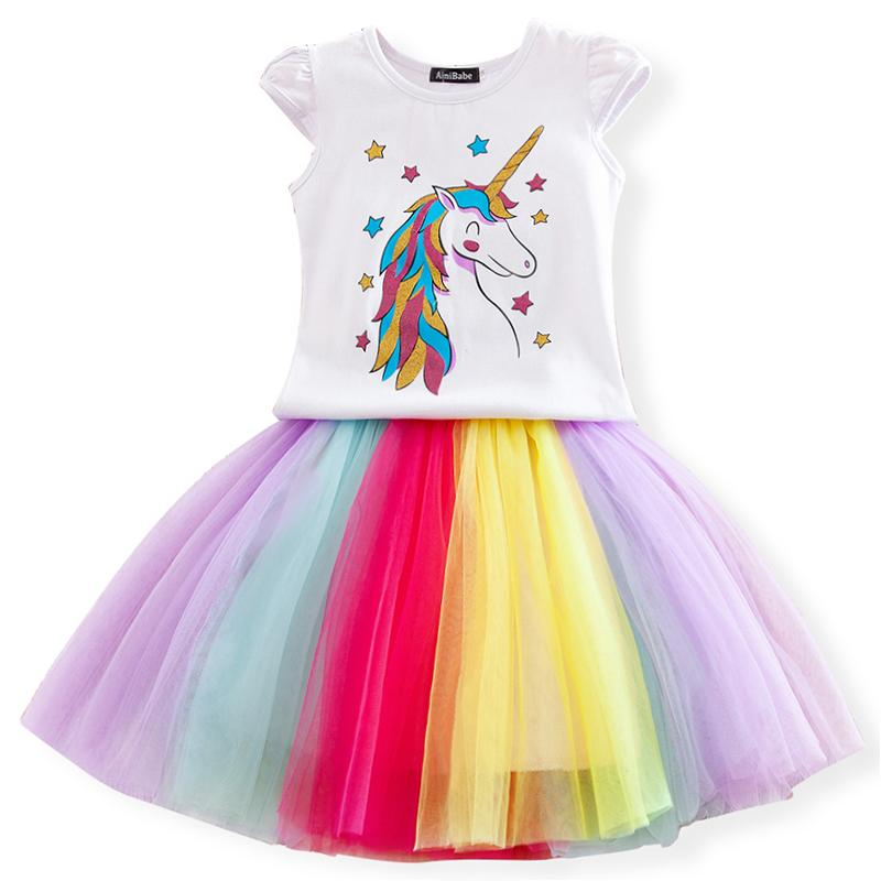 6741b66f2d Fancy Baby Girl Unicorn Dresses Princess Girls Birthday Party Dress Up  Costume Kids Tutu Gown Clothing Children Summer Clothes