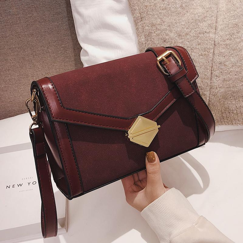 03653e18f474 Suede Leather Crossbody Bags For Women 2019 Small Shoulder Bags Ladies Mini  Handbags And Purses Solid Color Hobo Handbags Italian Leather Handbags From  ...