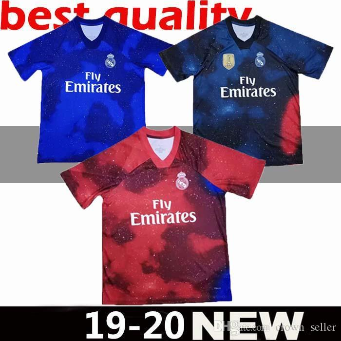c0892b8101 Nuevo 19 20 Real Madrid Juventus Manchester Bayern Munich Paris Soccer  Jersey Ronaldo 2019 2020 PSG United Camiseta De Edición Especial Por  Crown seller