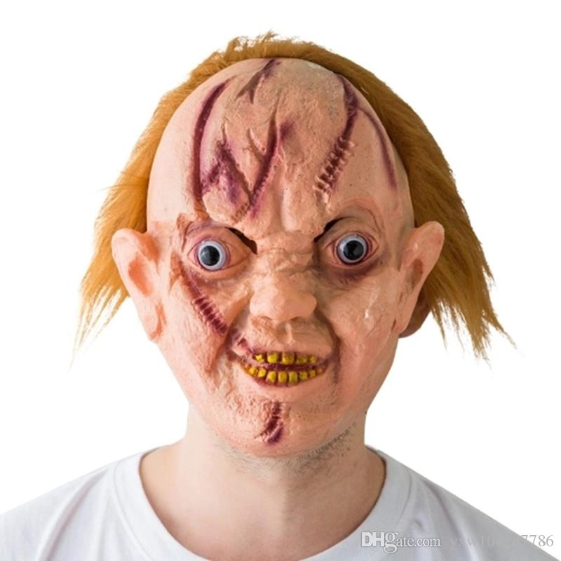 Haunted House Mask Scary Terror Creepy Cosplay Party Ghost Mask