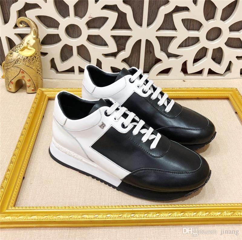 352d1226ae2 Compre LUJOSO Zapatos De BALLYS De Diseñador Para Hombre En Negro Blanco Para  Hombre Zapatillas Deportivas B Logotipo De Lette Zapatos De Cuero Casuales  ...