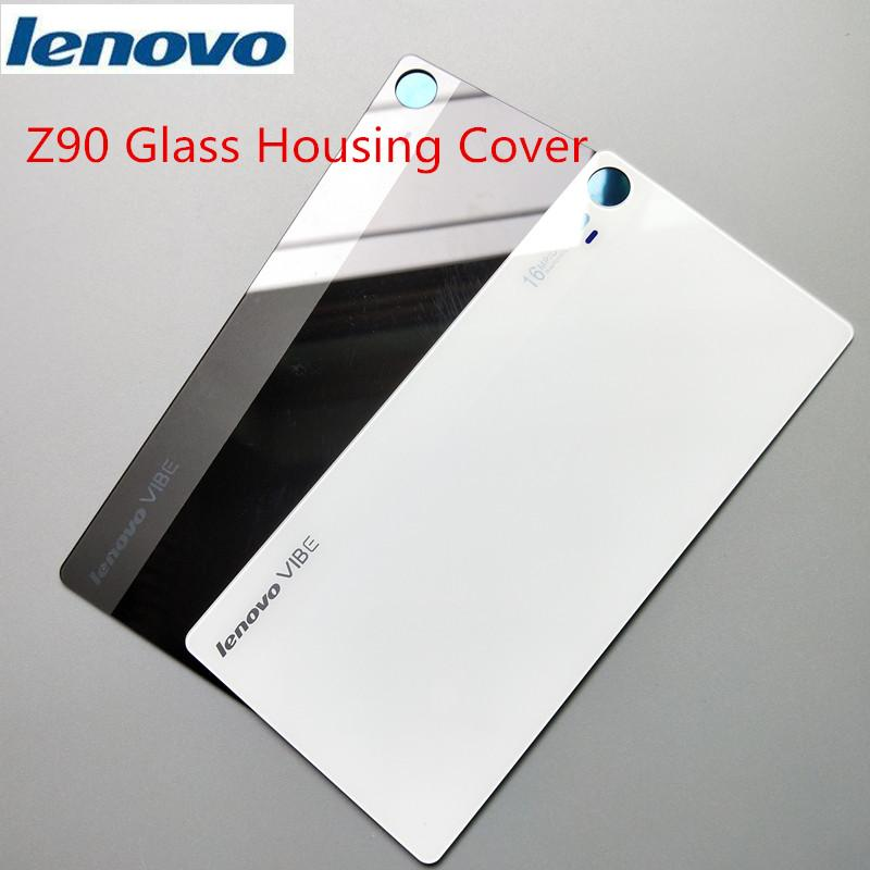 Original Rear Replacement Glass Housing Cover for Lenovo Vibe Shot  Z90,mobile phone Back Door Hard Battery Case Repair