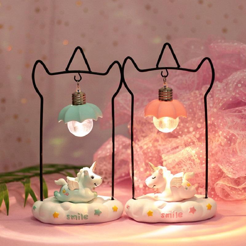 Noël Jouet Pour Décoration Led Nuit Bébé Lumière Enfants La Berceau De Luminaria Romantique Nouvel Cadeau Licorne Lampe Ins An WrQdCBoxe