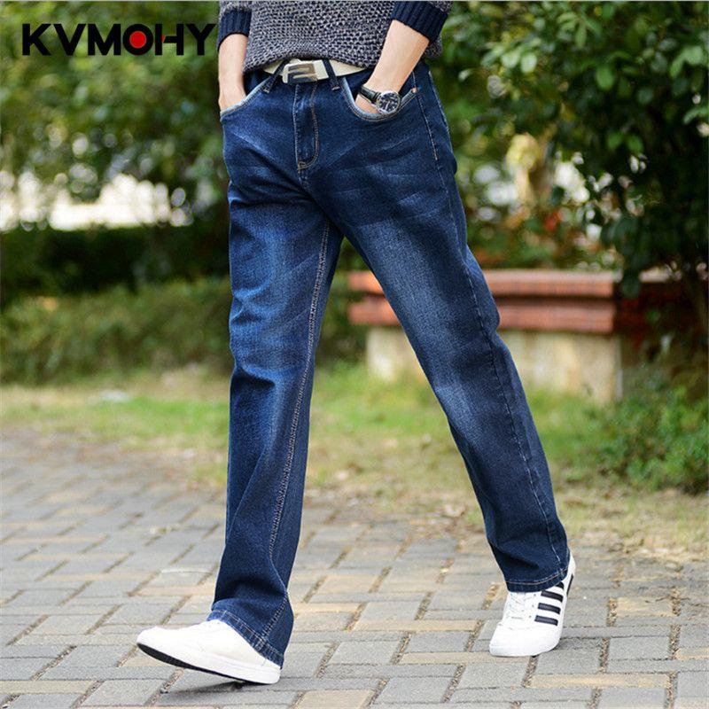 Compre Pantalones Vaqueros Para Hombre Hip Hop Moda Jean Hombre Joggers  Casual Rectas Piernas Grandes Pantalones Pantalones De Mezclilla Más Tamaño  Hombres ... f2f6b77c29d