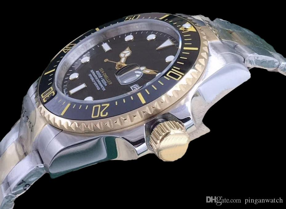 2019 43mm SEA-DWELLER Nightlight Men's Watch Ceramic Ring Sapphire Mirror 2813 Automation Core Stainless Steel Sliding Lock