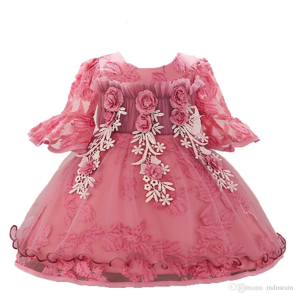 dfdefdcefff03 Lace Girl Summer Clothes Newborn Baby Dress Kids Party Wear Princess  Costume For Girl Tutu Infant 1-2 Year Birthday Dresses