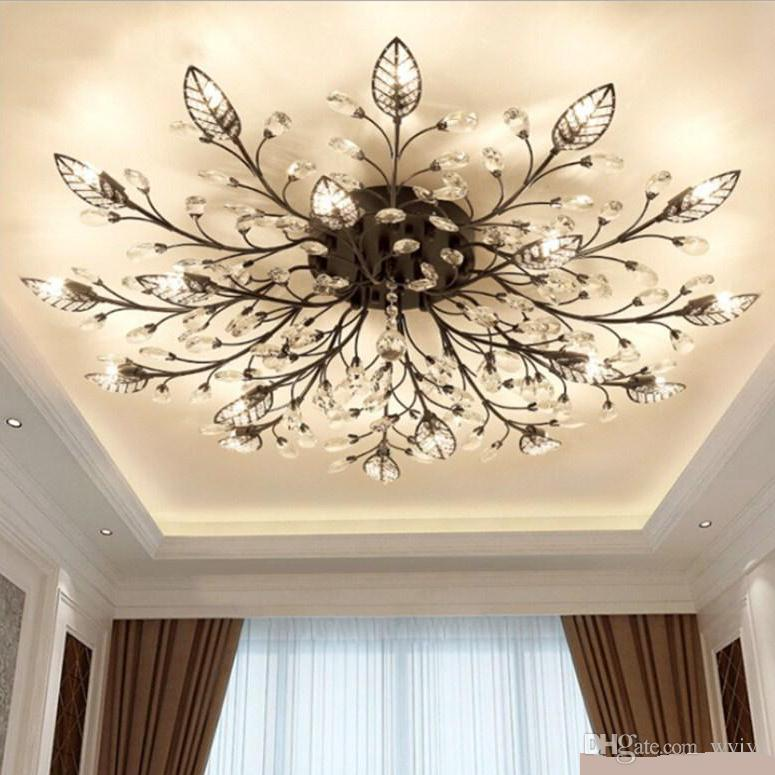 2019 New Item Fancy Ceiling Light Led Crystal Ceiling Lamp
