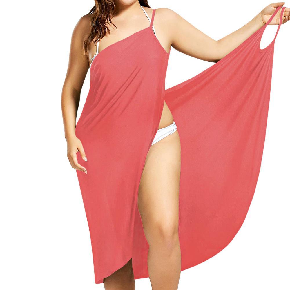 Plus Size Pareo Beach Cover Up Wickelkleid Bikini Badeanzug Badeanzug Vertuschungen Robe De Plage Beach Wear Tunika Kaftan Bademode